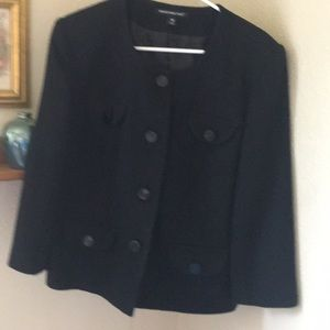 Black expensive jacket size 12 rich lined wool